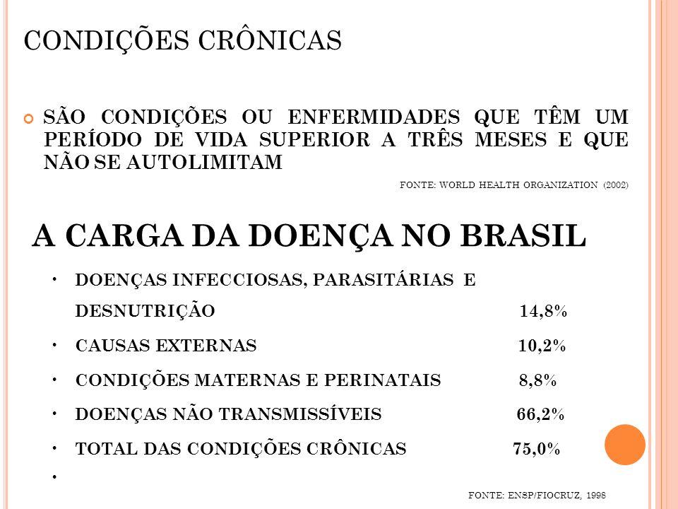 A CARGA DA DOENÇA NO BRASIL