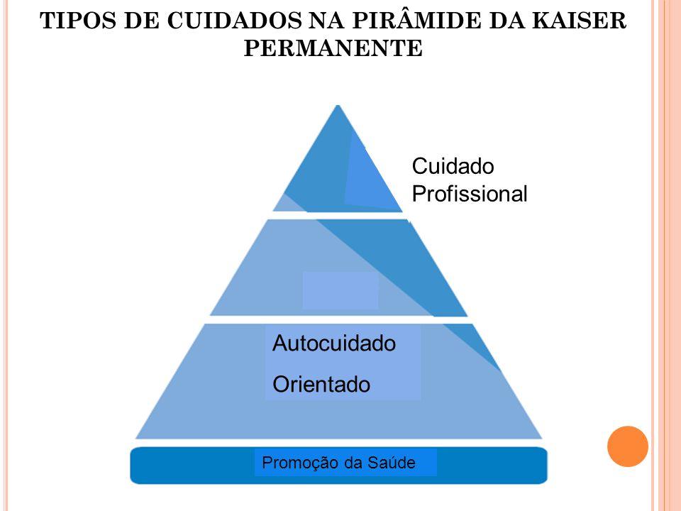 TIPOS DE CUIDADOS NA PIRÂMIDE DA KAISER PERMANENTE