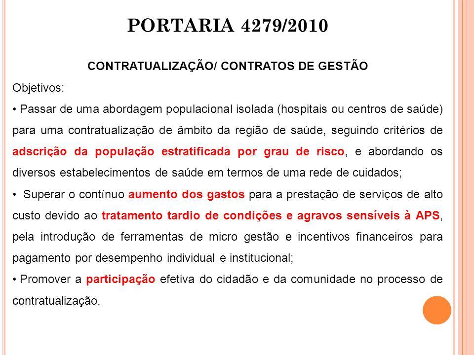 CONTRATUALIZAÇÃO/ CONTRATOS DE GESTÃO