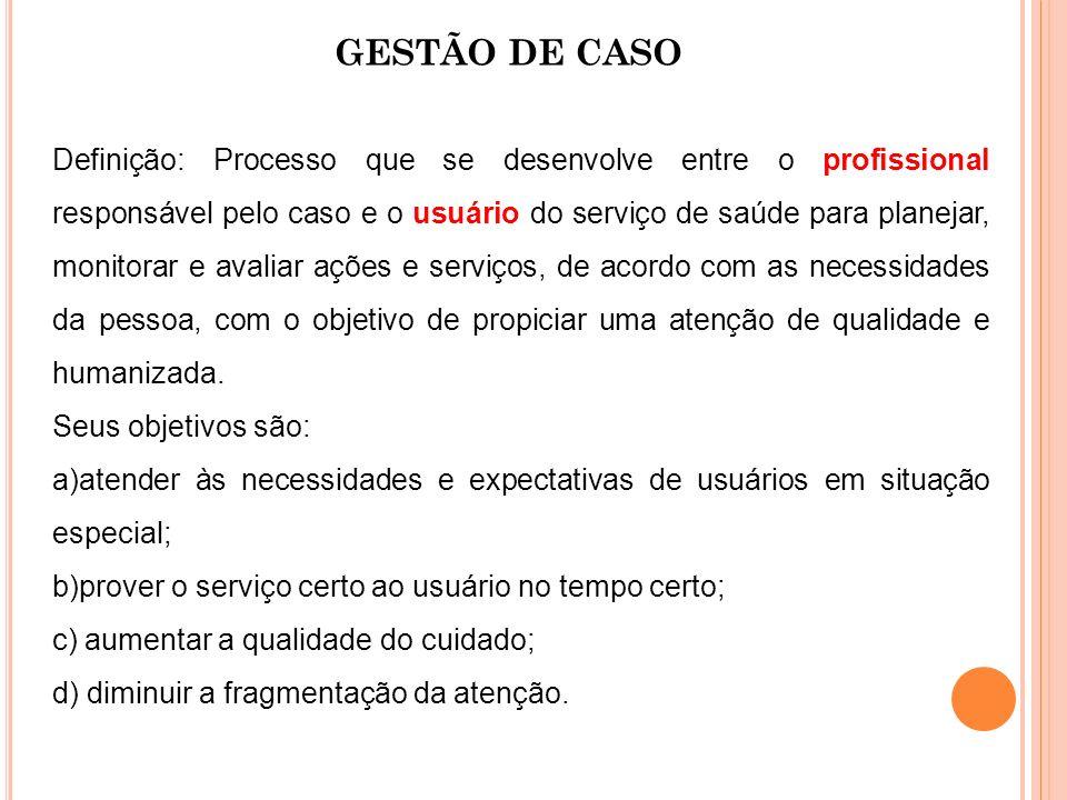 GESTÃO DE CASO