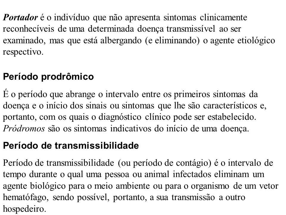 Portador é o indivíduo que não apresenta sintomas clinicamente reconhecíveis de uma determinada doença transmissível ao ser examinado, mas que está albergando (e eliminando) o agente etiológico respectivo.
