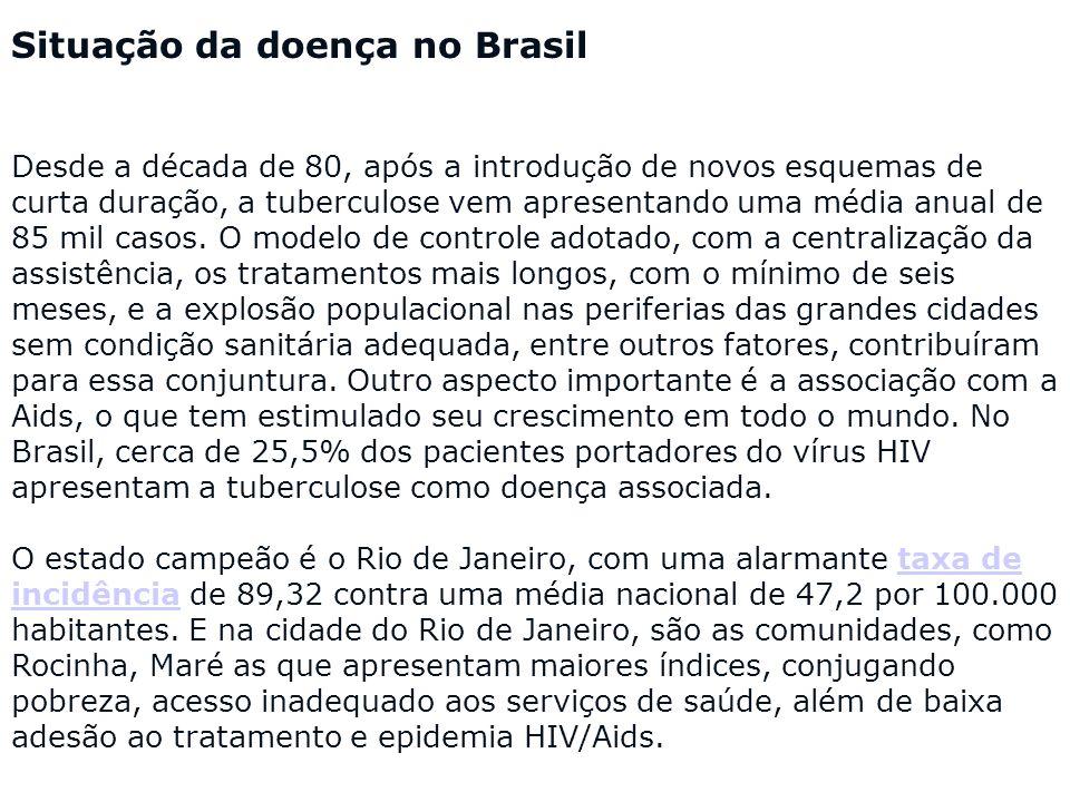 Situação da doença no Brasil
