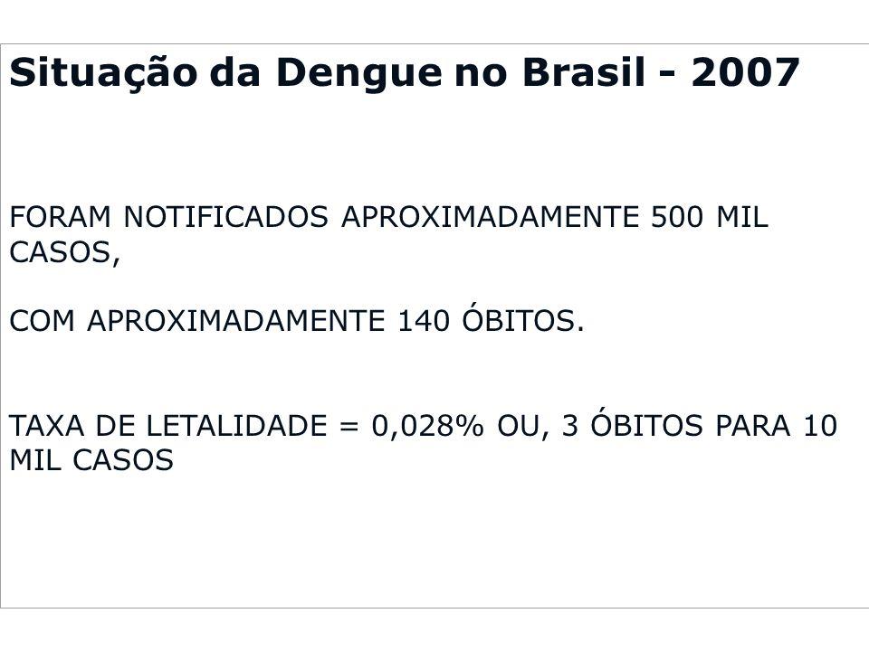 Situação da Dengue no Brasil - 2007