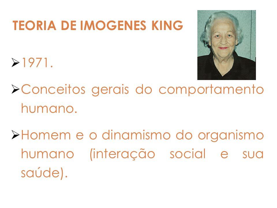 1971. Conceitos gerais do comportamento humano. Homem e o dinamismo do organismo humano (interação social e sua saúde).