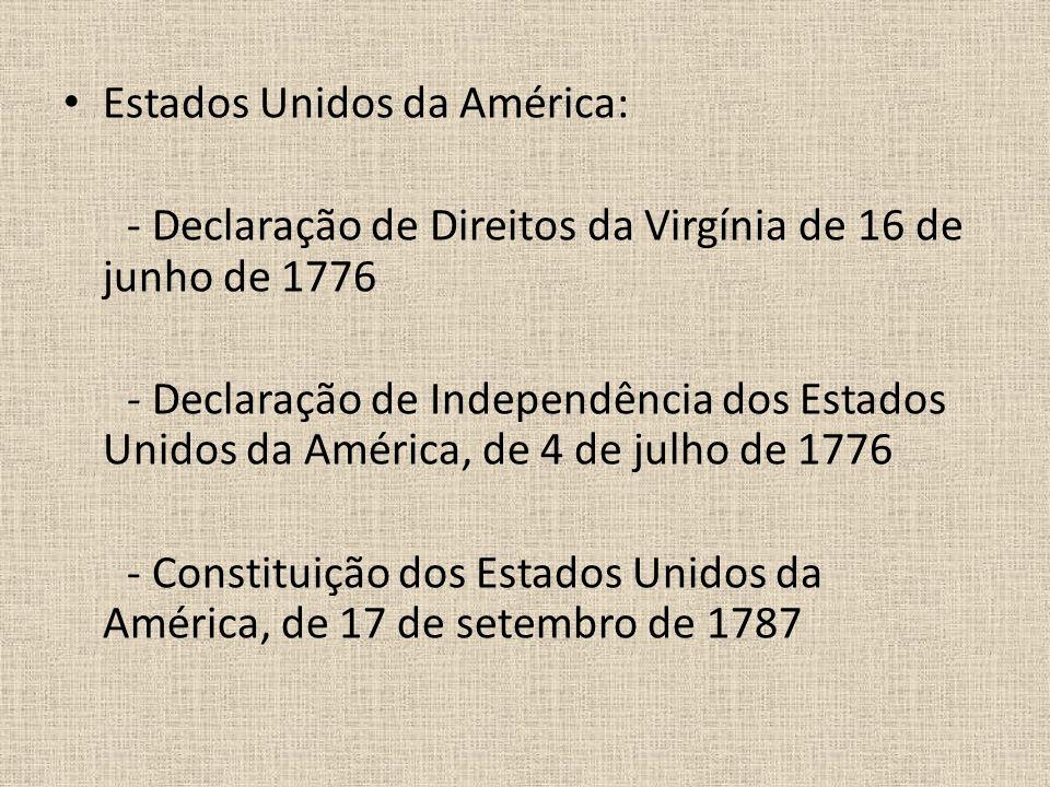 Estados Unidos da América: