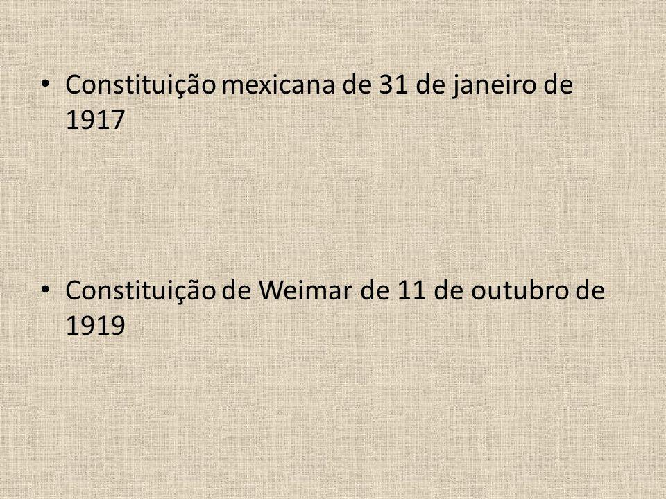 Constituição mexicana de 31 de janeiro de 1917