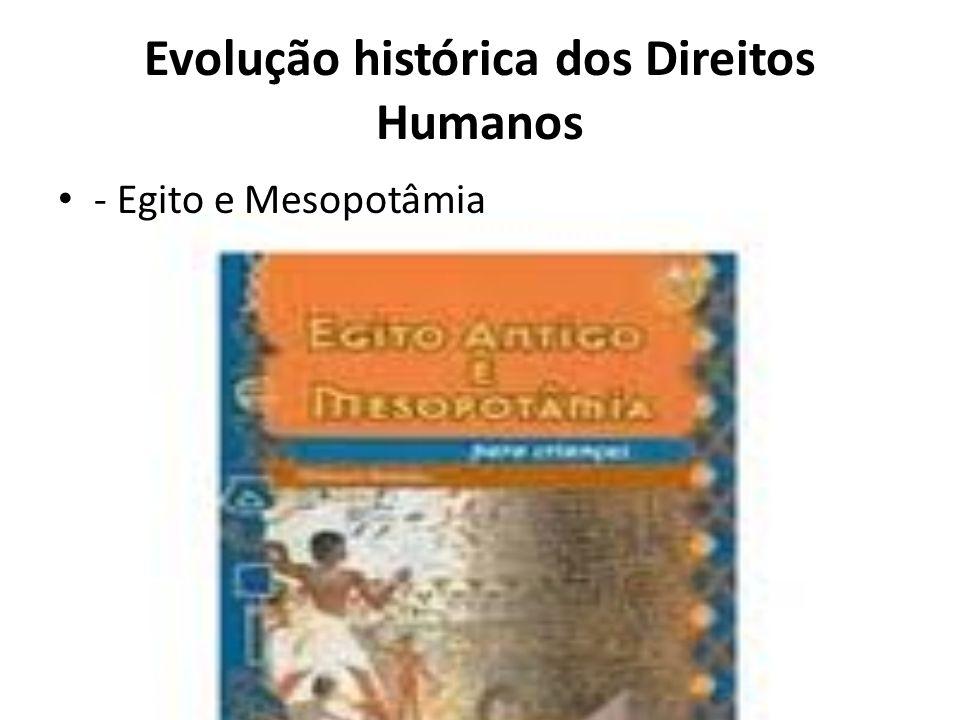 Evolução histórica dos Direitos Humanos