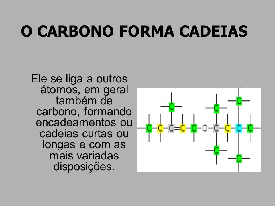 O CARBONO FORMA CADEIAS