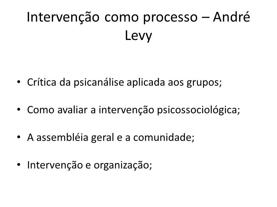Intervenção como processo – André Levy