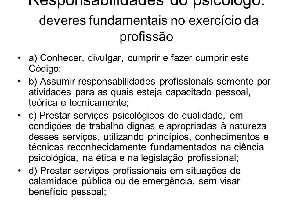 Responsabilidades do psicólogo: deveres fundamentais no exercício da profissão
