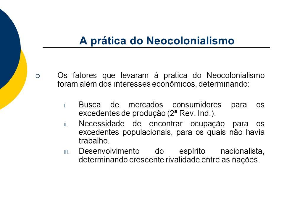 A prática do Neocolonialismo