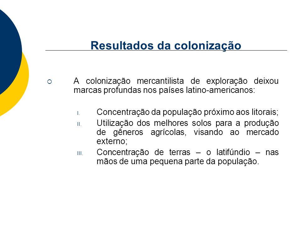 Resultados da colonização