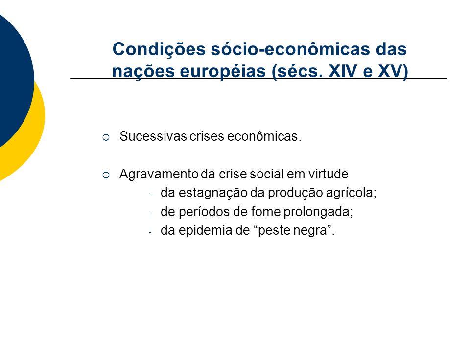 Condições sócio-econômicas das nações européias (sécs. XIV e XV)