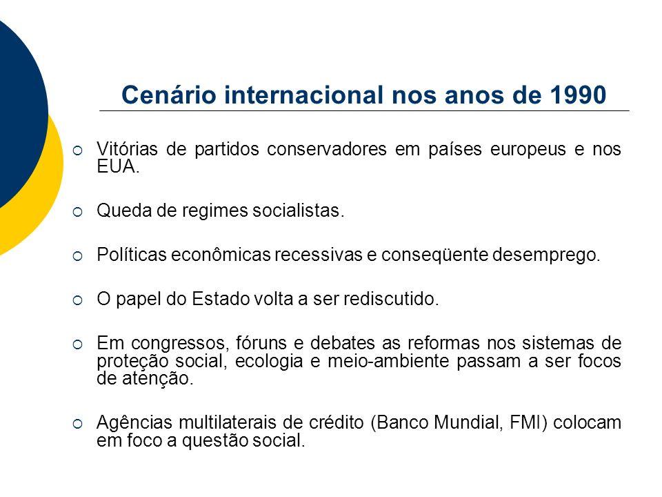 Cenário internacional nos anos de 1990