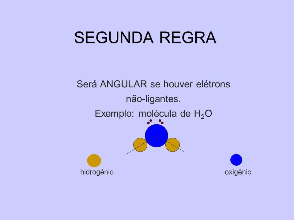 SEGUNDA REGRA Será ANGULAR se houver elétrons não-ligantes.