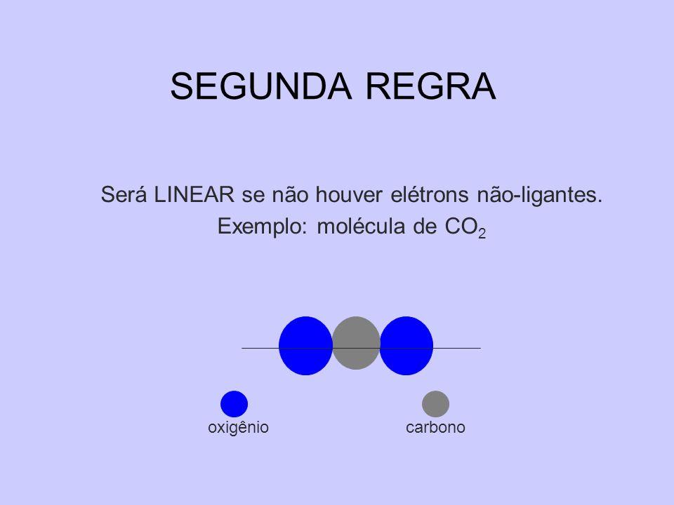 SEGUNDA REGRA Será LINEAR se não houver elétrons não-ligantes.