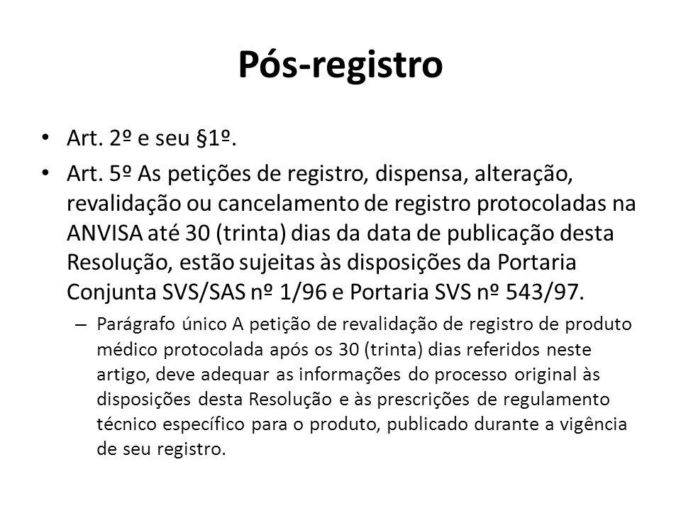 Pós-registro Art. 2º e seu §1º.