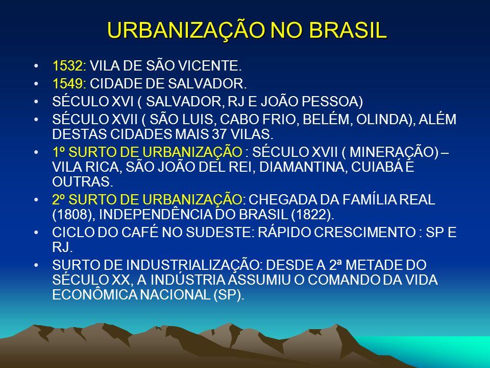 URBANIZAÇÃO NO BRASIL 1532: VILA DE SÃO VICENTE.