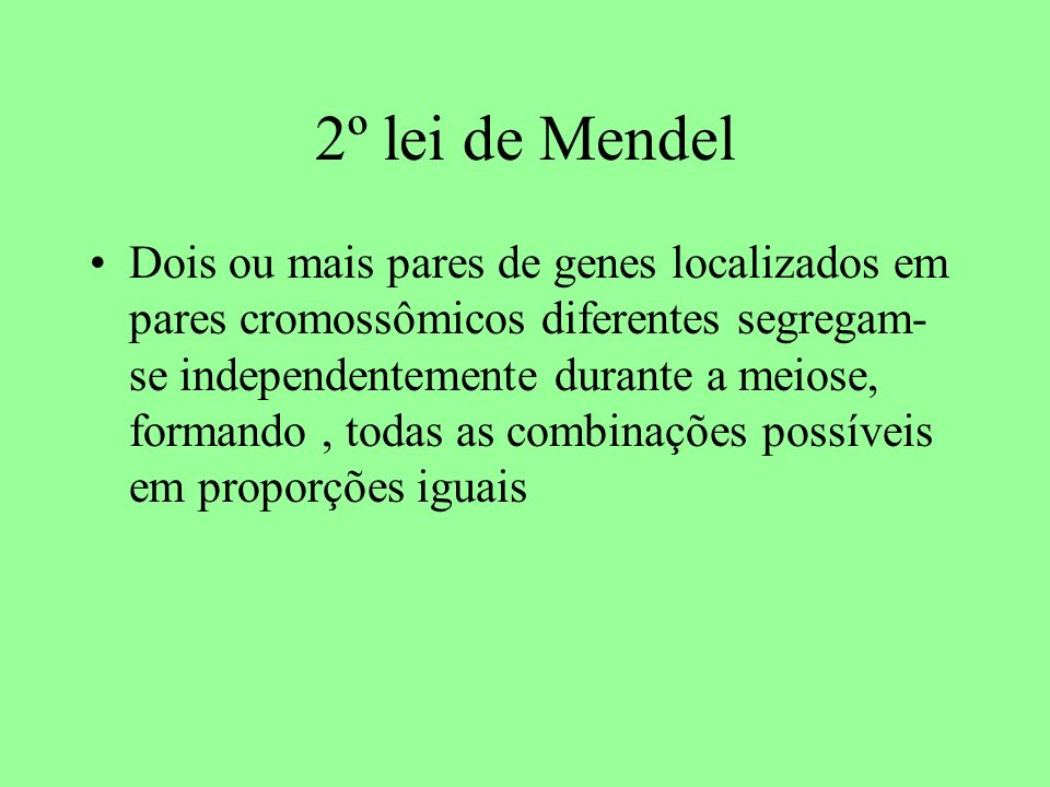 2º lei de Mendel