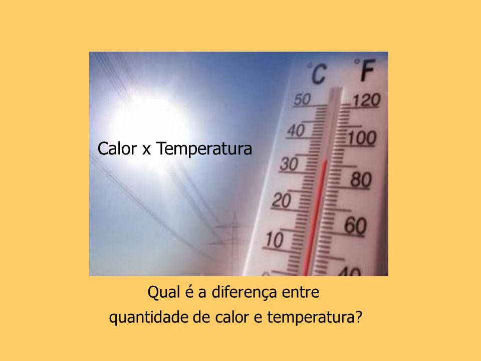Calor x Temperatura Qual é a diferença entre
