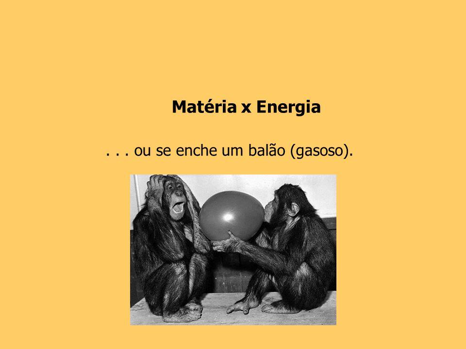 Matéria x Energia . . . ou se enche um balão (gasoso).