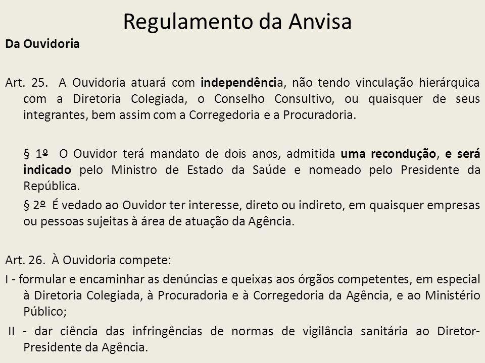 Regulamento da Anvisa