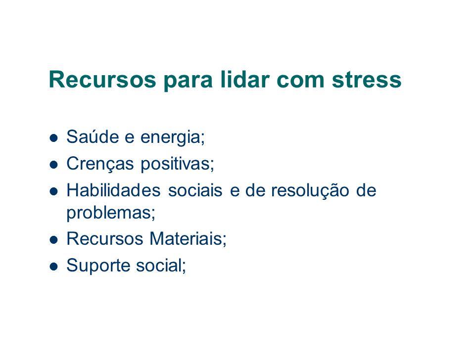Recursos para lidar com stress
