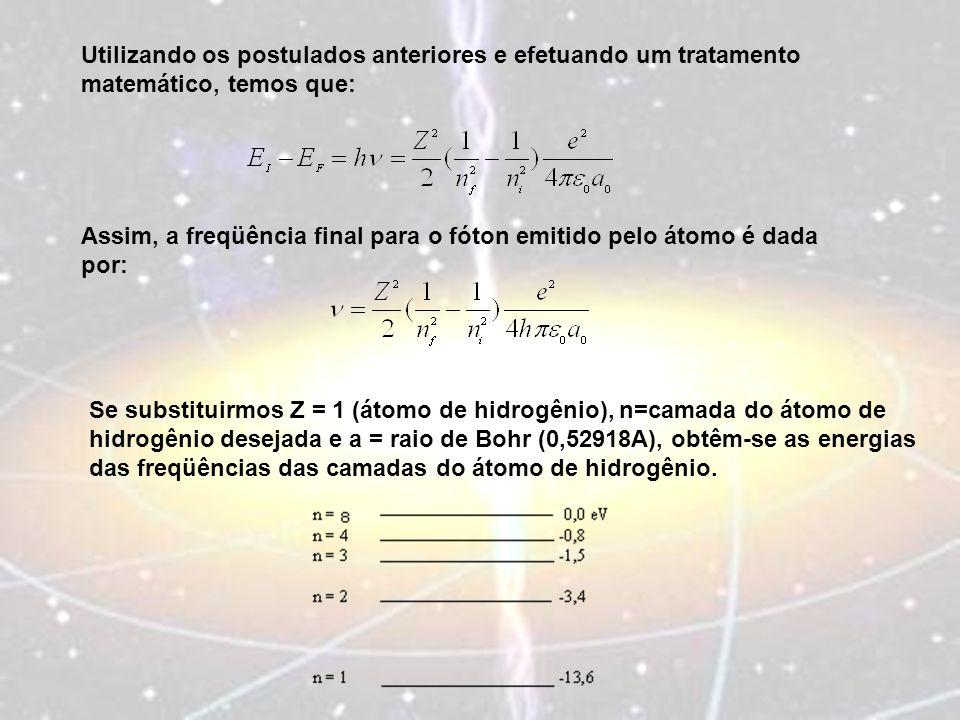 Utilizando os postulados anteriores e efetuando um tratamento matemático, temos que: