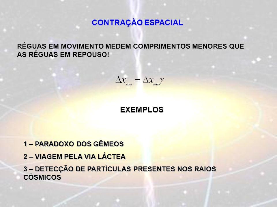 CONTRAÇÃO ESPACIAL EXEMPLOS