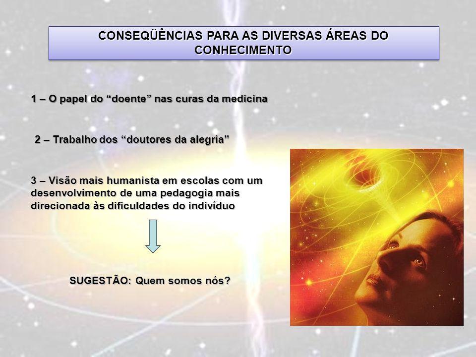 CONSEQÜÊNCIAS PARA AS DIVERSAS ÁREAS DO CONHECIMENTO