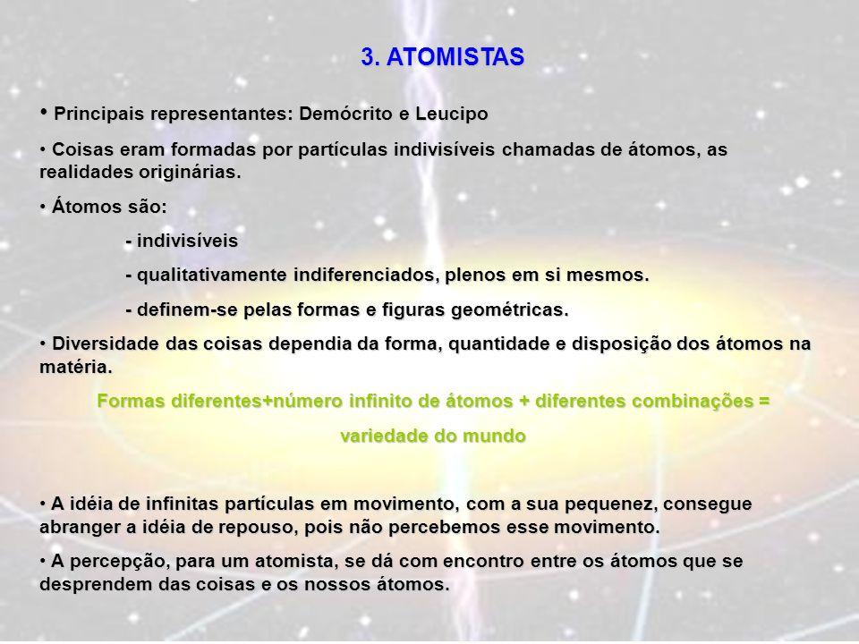 Formas diferentes+número infinito de átomos + diferentes combinações =