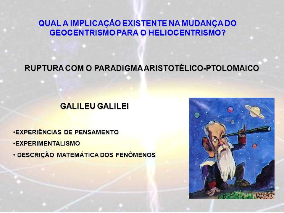 RUPTURA COM O PARADIGMA ARISTOTÉLICO-PTOLOMAICO