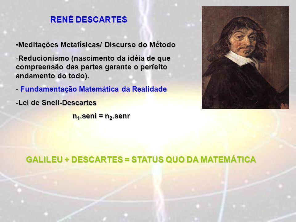 GALILEU + DESCARTES = STATUS QUO DA MATEMÁTICA