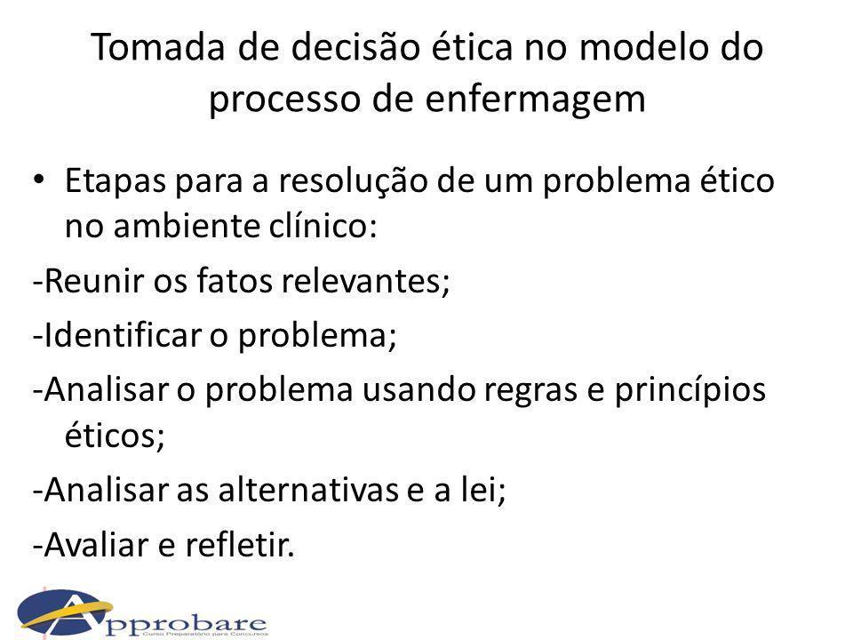 Tomada de decisão ética no modelo do processo de enfermagem