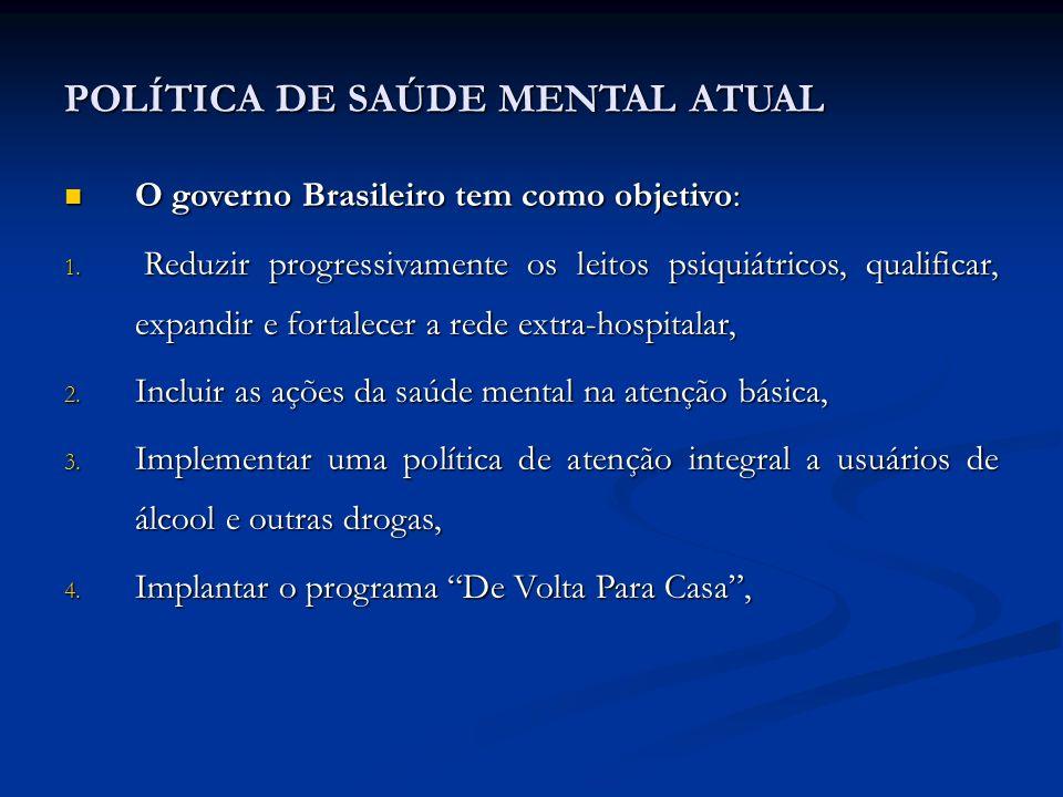 POLÍTICA DE SAÚDE MENTAL ATUAL