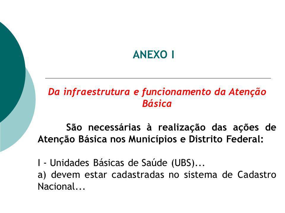 Da infraestrutura e funcionamento da Atenção Básica