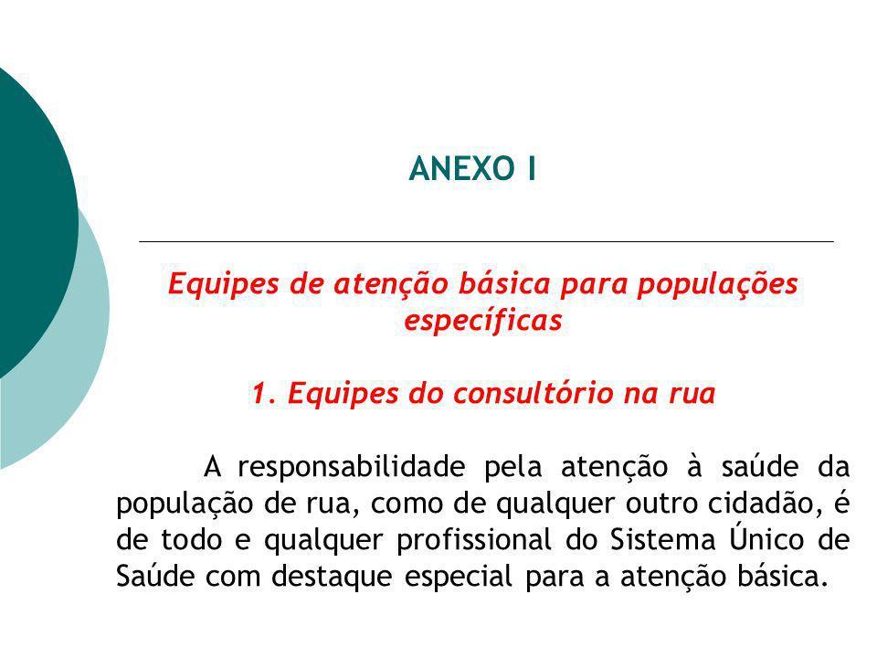 ANEXO I Equipes de atenção básica para populações específicas