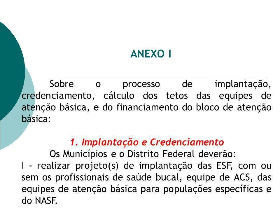 1. Implantação e Credenciamento