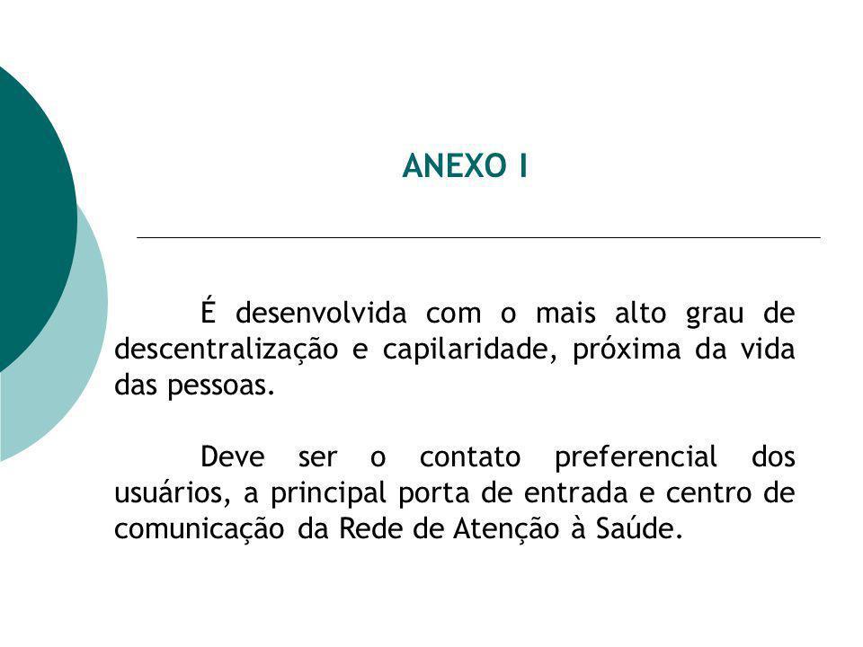 ANEXO I É desenvolvida com o mais alto grau de descentralização e capilaridade, próxima da vida das pessoas.