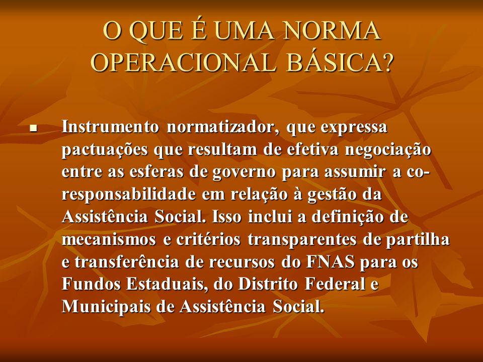 O QUE É UMA NORMA OPERACIONAL BÁSICA