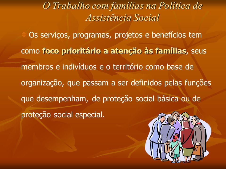 O Trabalho com famílias na Política de Assistência Social