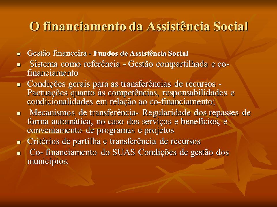 O financiamento da Assistência Social