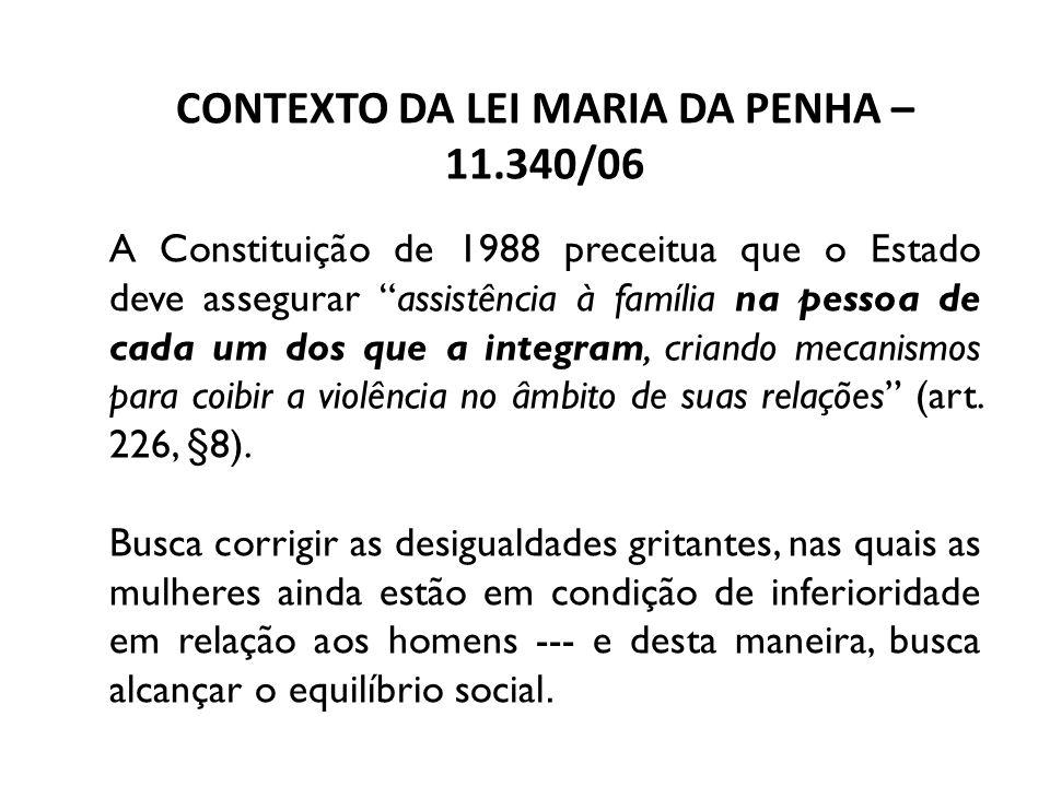 CONTEXTO DA LEI MARIA DA PENHA – 11.340/06