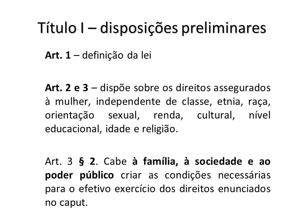 Título I – disposições preliminares