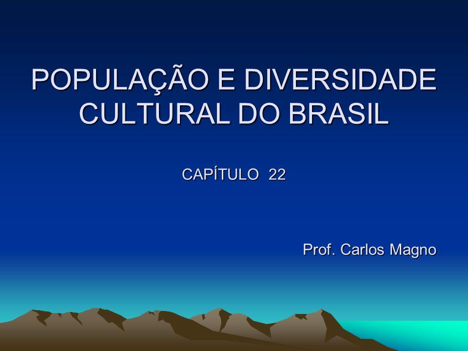POPULAÇÃO E DIVERSIDADE CULTURAL DO BRASIL CAPÍTULO 22 Prof
