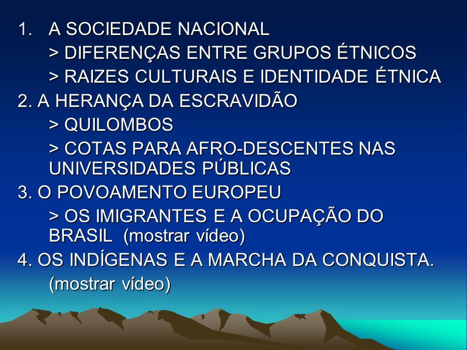 A SOCIEDADE NACIONAL > DIFERENÇAS ENTRE GRUPOS ÉTNICOS. > RAIZES CULTURAIS E IDENTIDADE ÉTNICA. 2. A HERANÇA DA ESCRAVIDÃO.