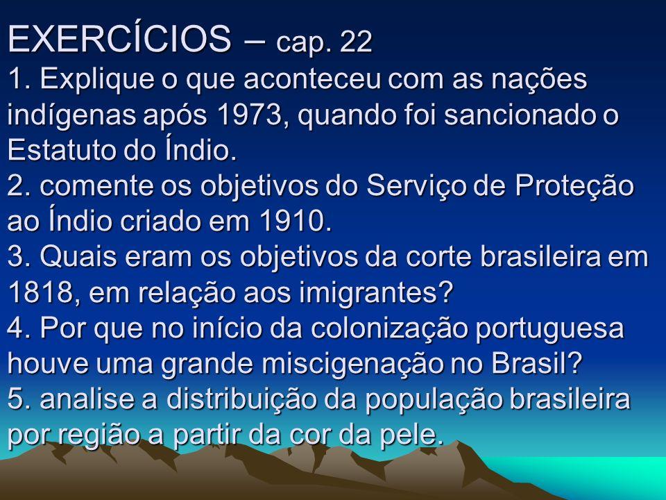 EXERCÍCIOS – cap. 22 1.
