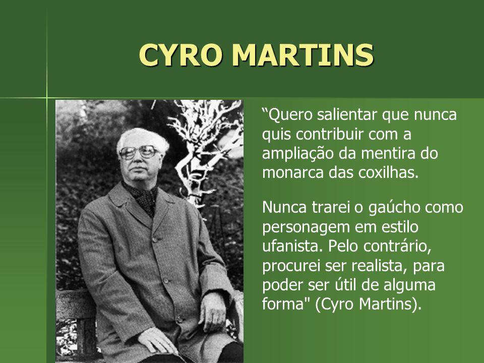CYRO MARTINS Quero salientar que nunca quis contribuir com a