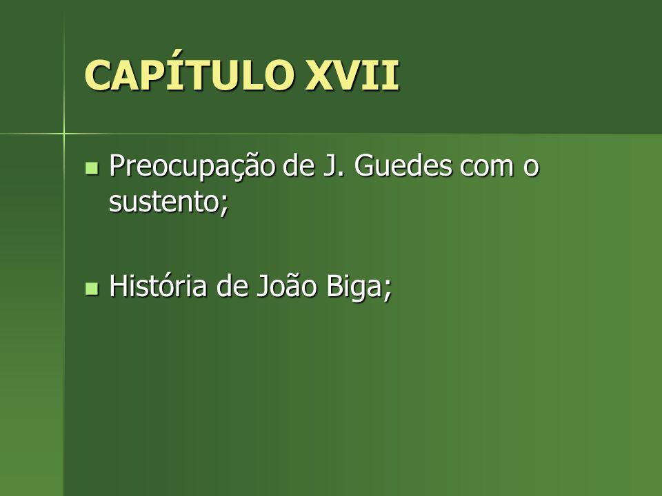 CAPÍTULO XVII Preocupação de J. Guedes com o sustento;