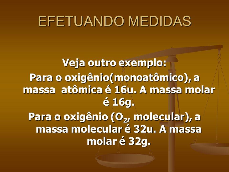 EFETUANDO MEDIDAS Veja outro exemplo: